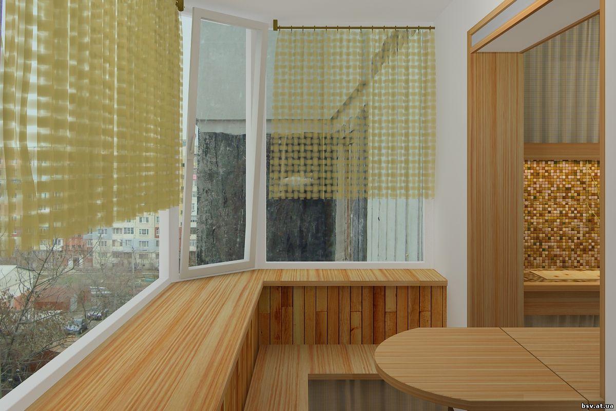 Реальные примеры отделки балконов и лоджий деревянной вагонк.